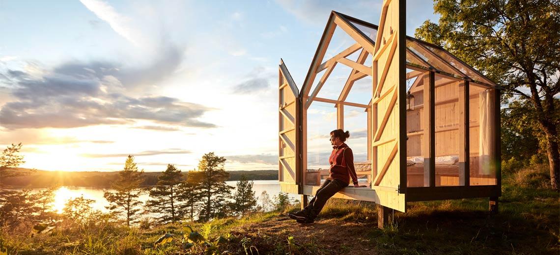 Stress reduzieren in der schwedischen 72 Hour Cabin