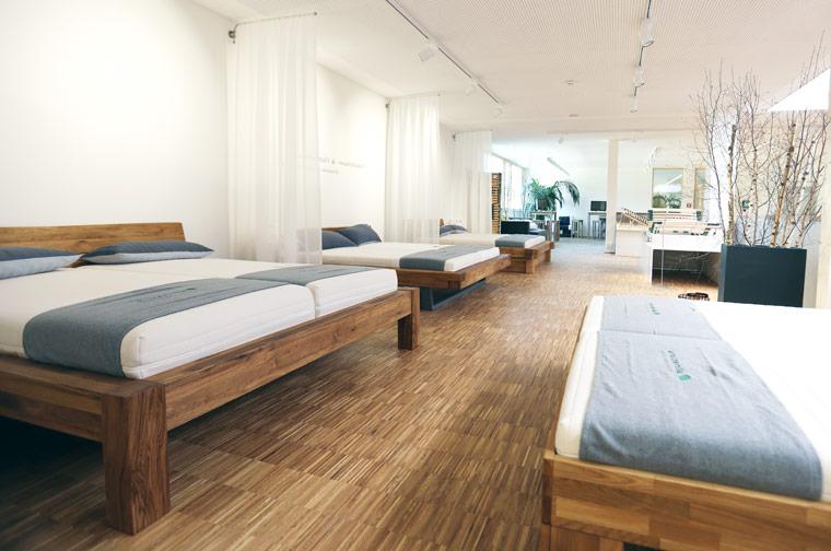 Der neue Flagship-Store bietet deutschlandweit die größte Auswahl an ökologischen Matratzen und Bettdecken
