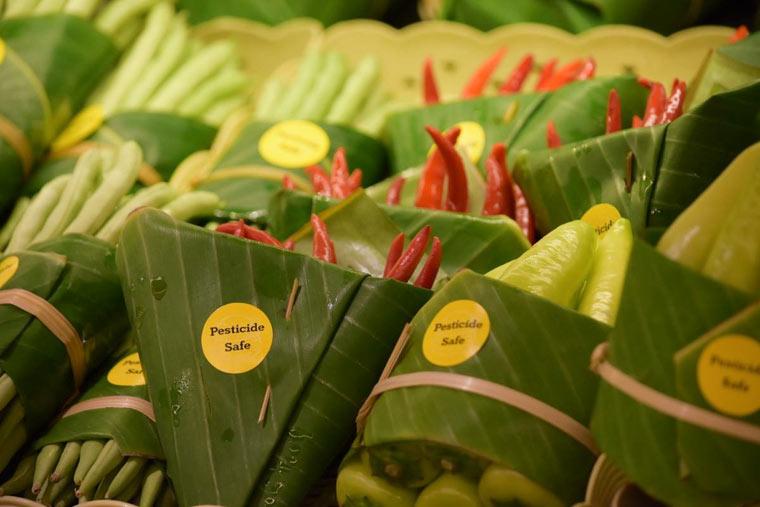 Verpackung aus Bananenblättern