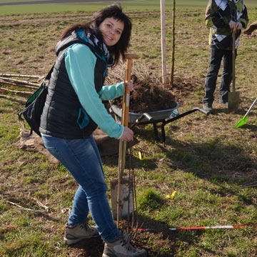 Baumpflanzaktion - ecowoman live dabei!