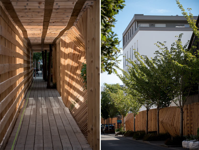 Baustellensicherung aus Holz