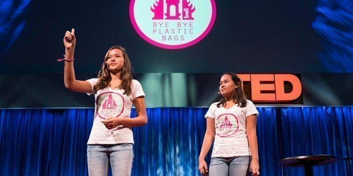 Diese beiden Schülerinnen haben das Verbot von Plastiktüten durchgesetzt