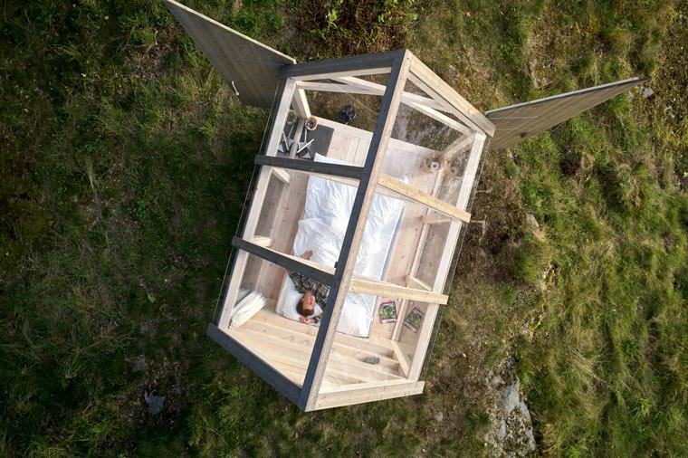 In Glashütten unter freiem Himmel schlafen