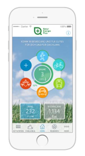 Die Challenge läuft über die ?Changers CO2 fit?-App