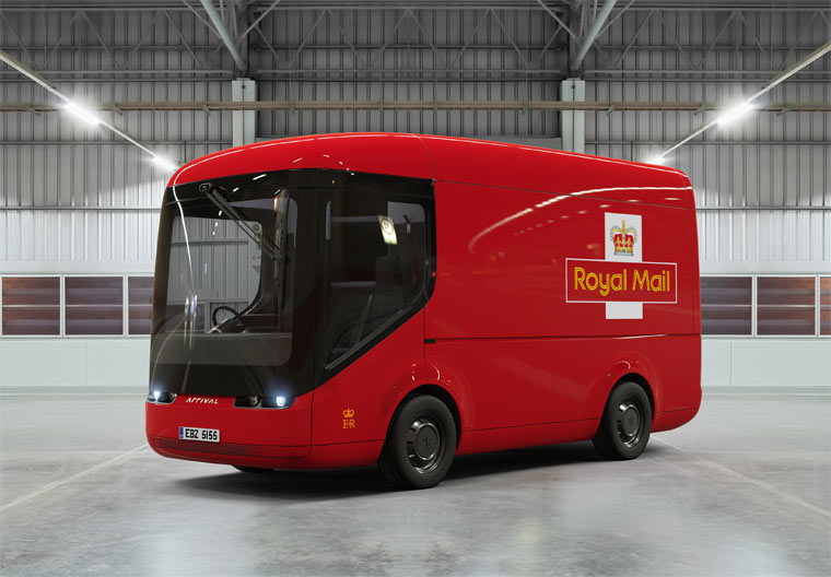 Elektro-Postautos für London