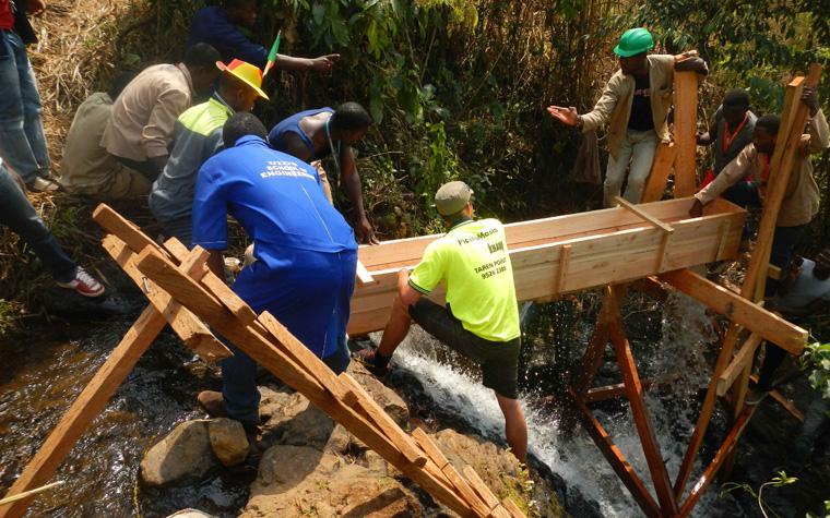 2014 konnte das Projekt einer Kleinstwasserkraftanlage in Kamerun überzeugen