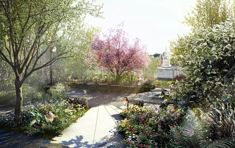 Die ausgewählten Pflanzen bieten den künftig auf der Brücke lebenden Tiere nektarreiche Blüten sowie eine Fülle an Beeren und Obst