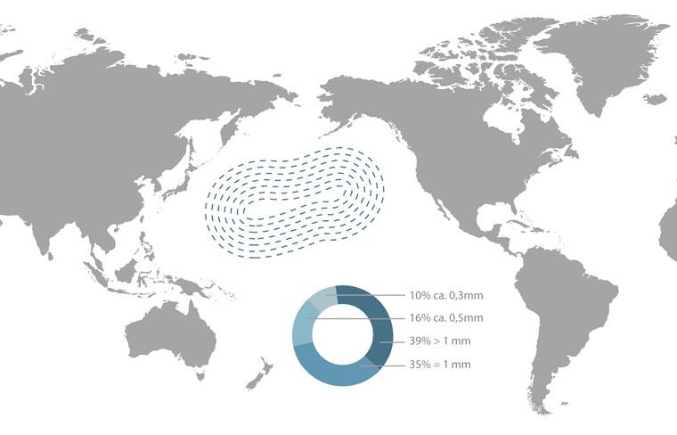 Müll-Seen so groß wie Mitteleuropa