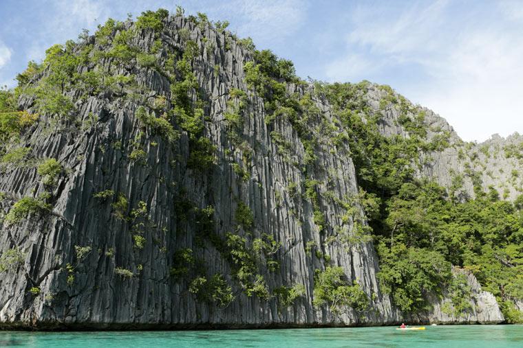 Karstkalkstein Klippen, Coron Island, Palawan