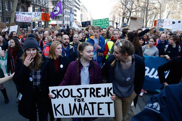 Klimastreik mit Greta Thunberg