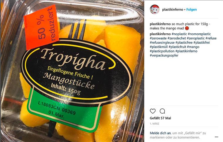 Unnötige Verpackungen im deutschen Supermarkt