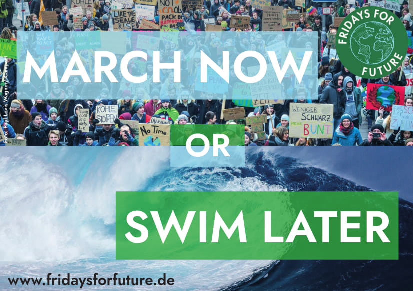 March now or swim later