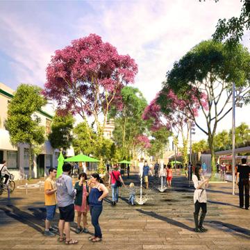 Vormals Beton, bald urbaner Garten
