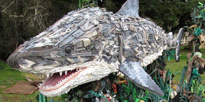 Tiere aus Müll geboren, ein nachhaltiges Kunstprojekt