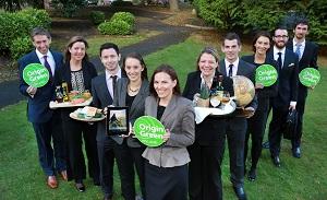 Alle Origin Green Botschafter. Deidre Ryan ist die dritte von rechts. © BORD BIA Irish Food Board