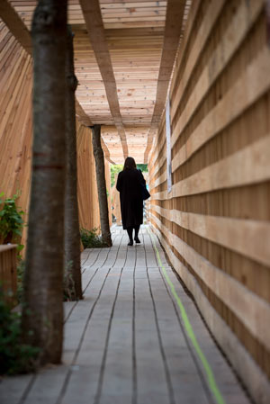 Holztunnel in Nantes