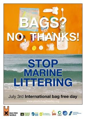 Tüte - nein, danke! Stoppt Müll im Meer! © plasticbagfreeday.org
