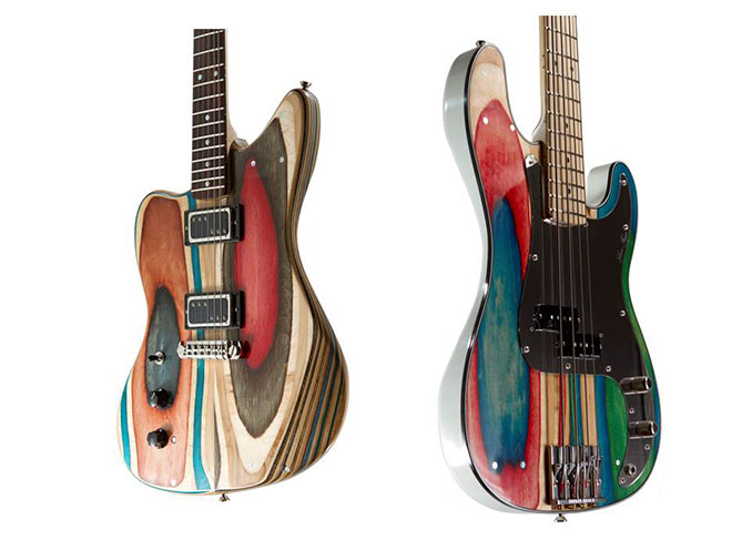 Bunte Prisma Eco Gitarren aus Holz