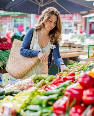 Regionales und biologisches Gemüse