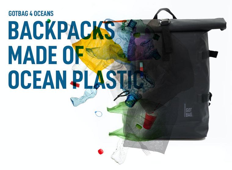 Rucksäcke aus Meeres-Plastikmüll