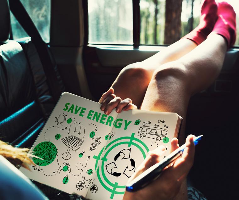 Skizze Energie sparen