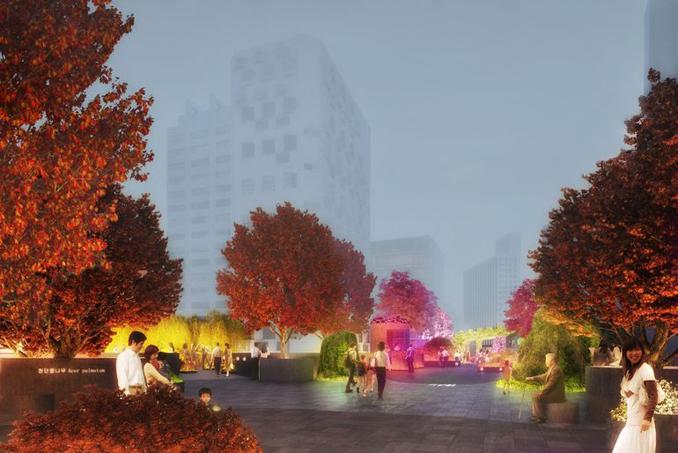 Skygarden Seol auch für Fußgänger geeignet