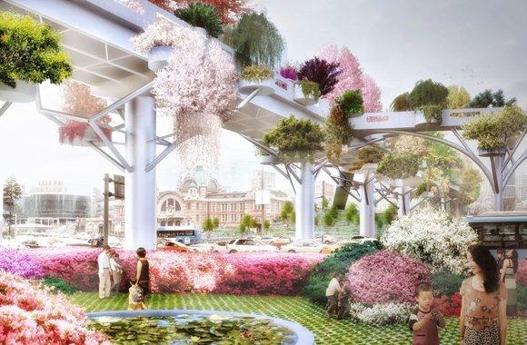 Skygarden: Autobahn wird zu grünem Paradies
