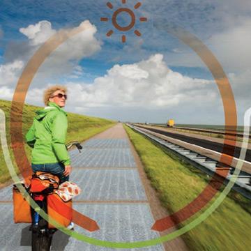 Niederlande: Radweg mit Solarzellen erzeugt Strom!