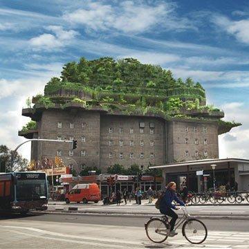 Hamburgs Flakturm wird zum Stadtwald