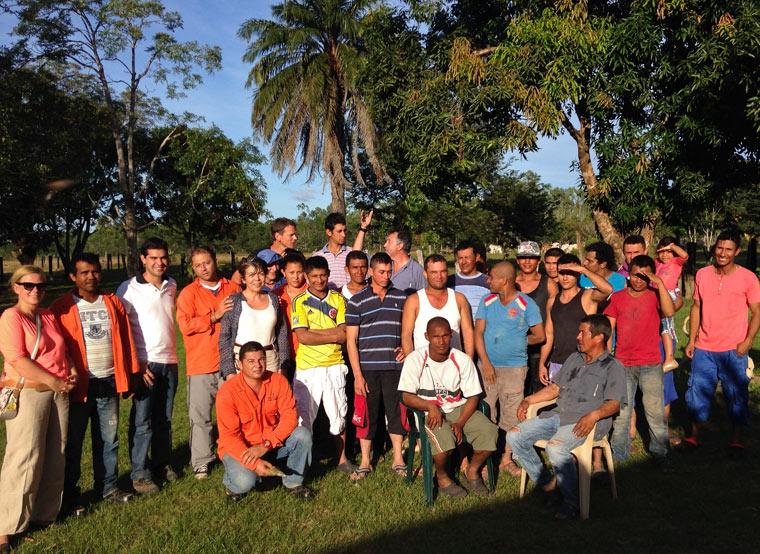 Aufforstungs-Team in Kolumbien