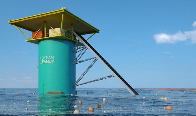 Erste Tests haben die Wirksamkeit bewiesen. © The Ocean Cleanup