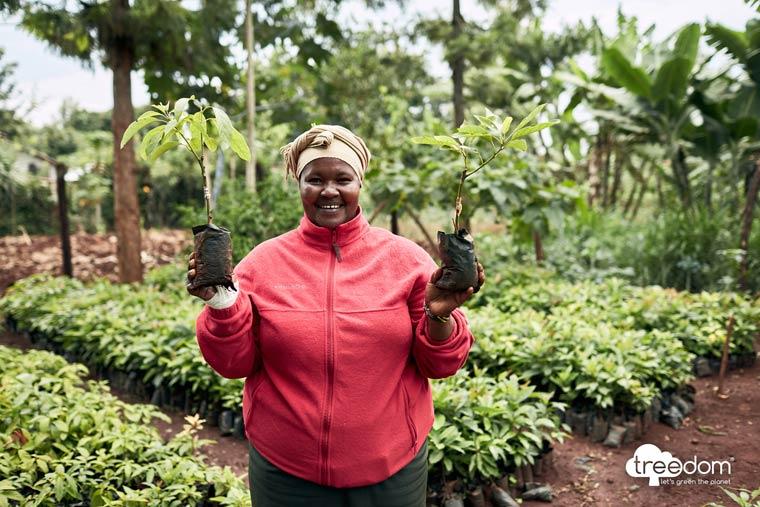 Bäume pflanzen in Kenia
