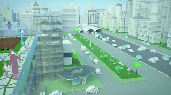 Eco Stadt der Zukunft