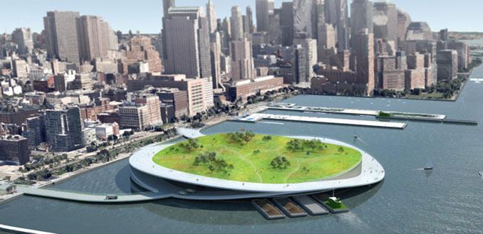 Frisches grün für New York. Diese Insel ist multifunktional © presentarchitecture.com
