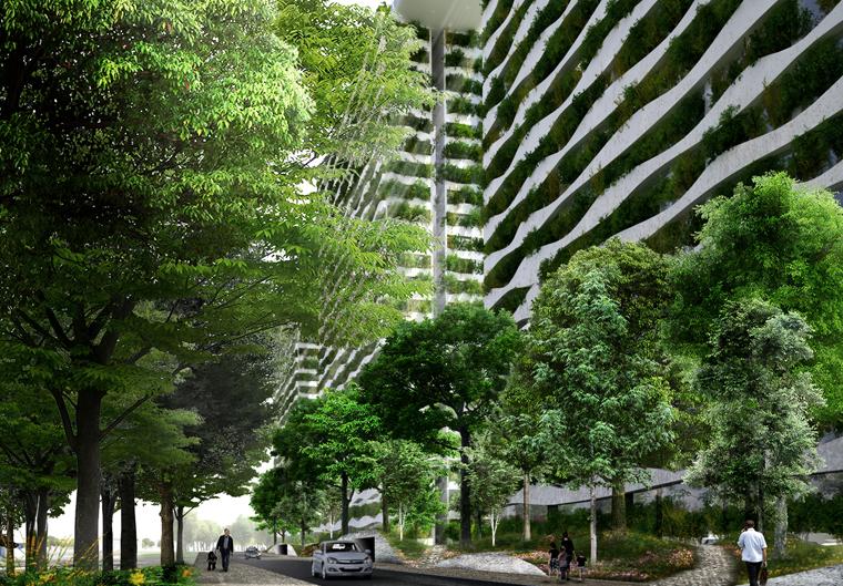 Bei der Gestaltung der einzigartigen Grünanlage wird auf Elemente des vietnamesischen Feng Shui zurückgegriffen.