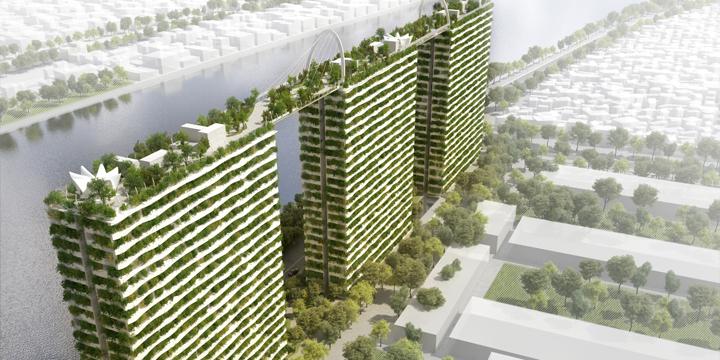 Eco Hochhäuser als grüne Oasen der Großstadt