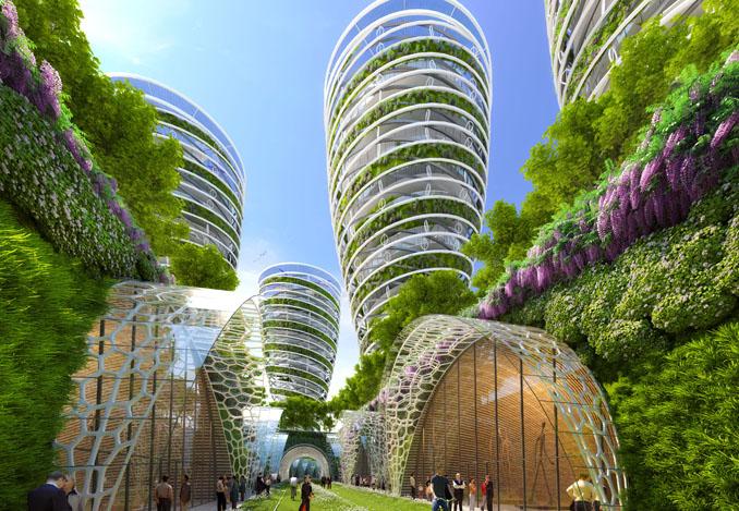 Paris 2050 stadtentwicklung gro stadtg rten nachhaltig for Architecture futuriste ecologique