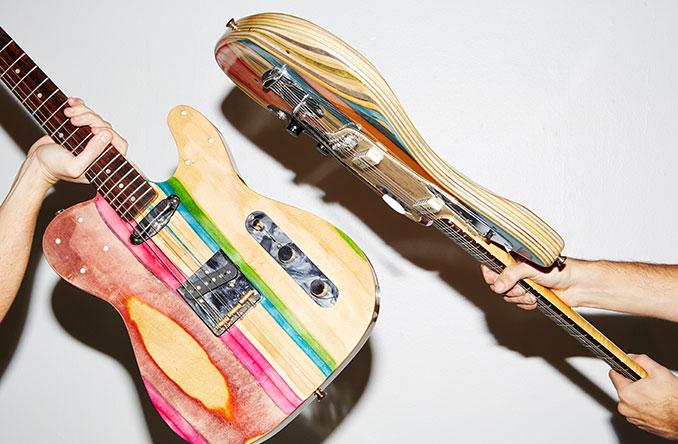 Label Prisma recycelt alte Skateboards für stilvolle Gitarren