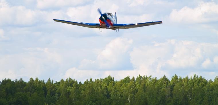 Mit Hilfe eines Militärflugzeugs, das sonst dazu genutzt wird, um zerstörerische Landmienen abzuwerfen, sollen gerodete Wälder wieder aufgeforstet werden