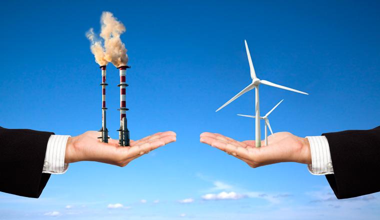 Energiewende Windenergie gegen Luftverschmutzung