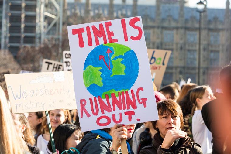 Demonstranten zum Klimaschutz