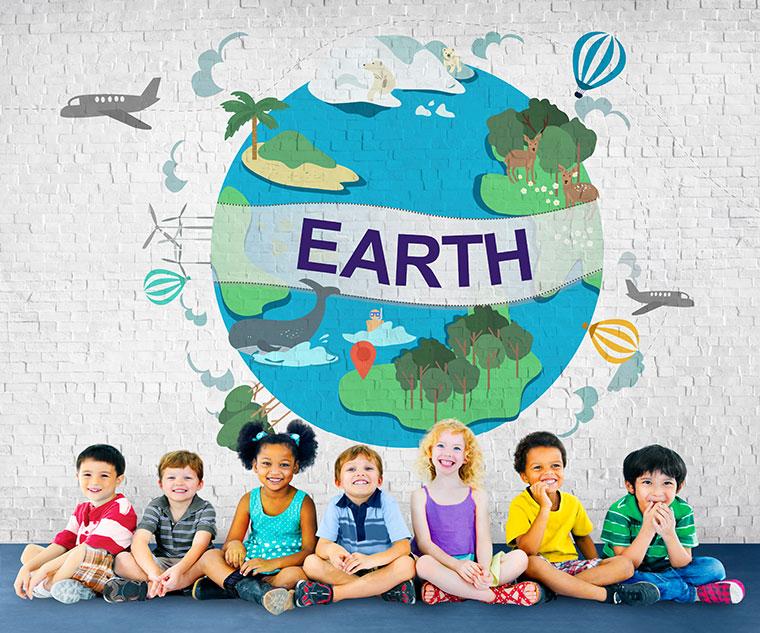 Kindergartenkinder für das Klima sensibilisieren
