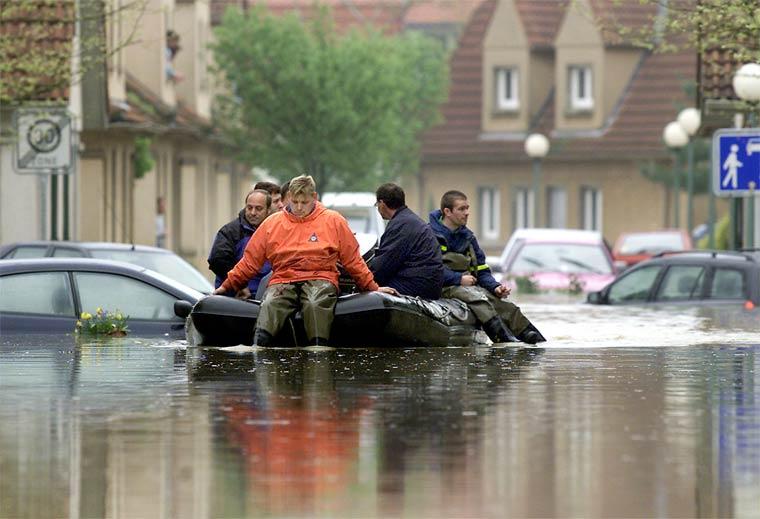 Sintflutartige Regenfälle werden uns in Zukunft häufiger heimsuchen
