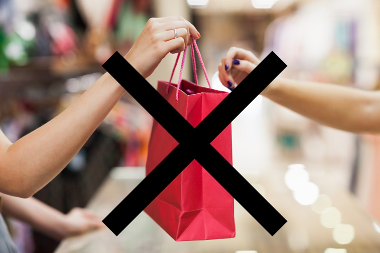 Nichts einkaufen am Kauf-Nix-Tag