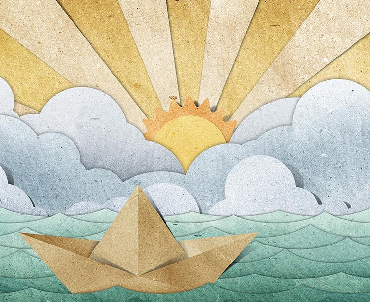 Umweltfreundliches Papier schützt die Umwelt