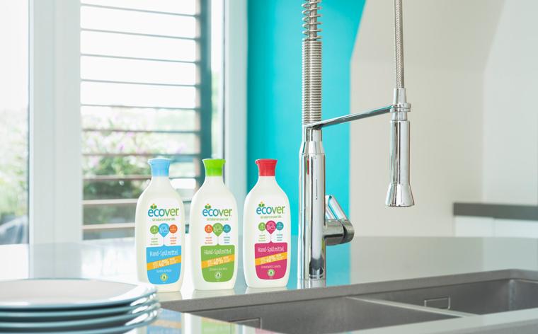 Das neue Hand-Spülmittel von Ecover ist kraftvoll und gleichzeitig umweltschonend