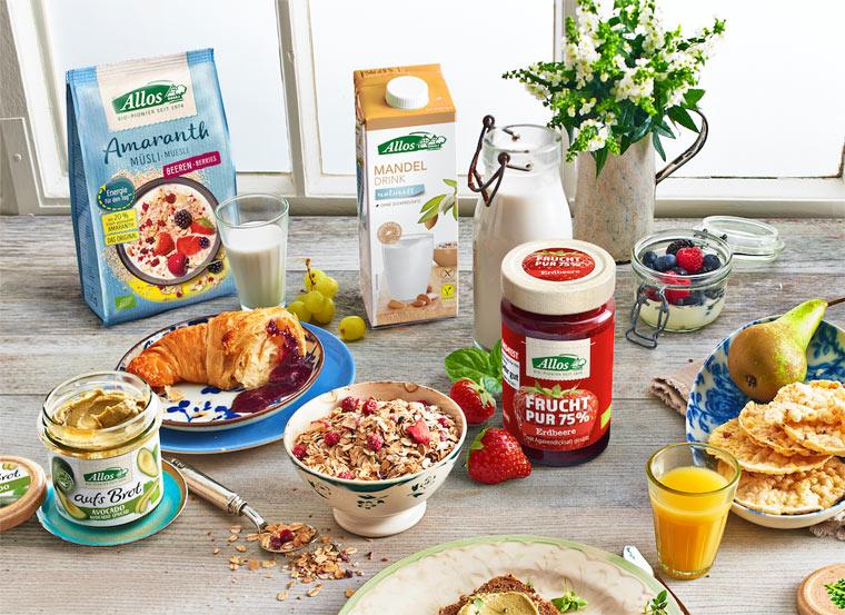 Leckere Produkte für ein ausgewogenes Frühstück