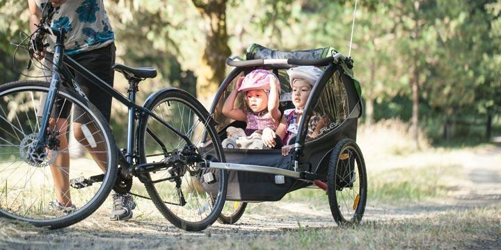Fahrradanhänger: Die saubere Alternative zum Familienauto