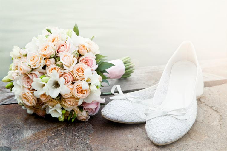 komfortable und flache Brautschuhe bequem und elegant