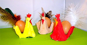 Lustige Eierbecher selber basteln